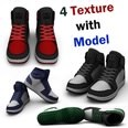 3d model the sports shoes