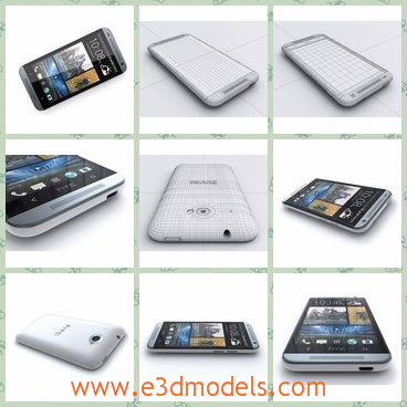 3d model a HTC phone - This is a 3d model of a HTC phone,which is a very smartphone with a touchscreen.The phone offerds us the information about the map and the weather.