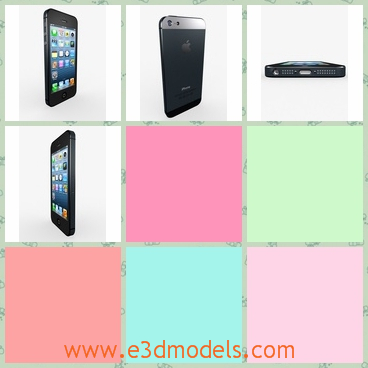 3d model a phone of iPhone - This is a 3d model about the iPhone 5,which is the most popular phone in the market for a while.The model is also used frequently in China.