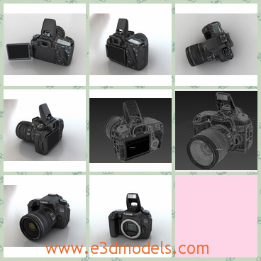 3d model canon camera - This is a 3d model of the Canon camera,which is the digital equipment.The camera is popular in China because it is cheap and practical.