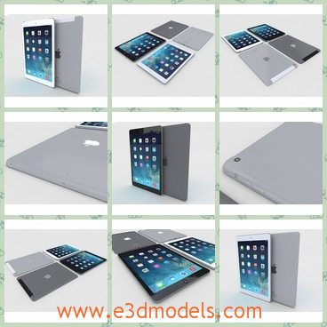 3d model the apple ipad air - This is a 3d model of the Apple iPad Air,which can be used as a computer.The model is modern and popular amongst the young people.