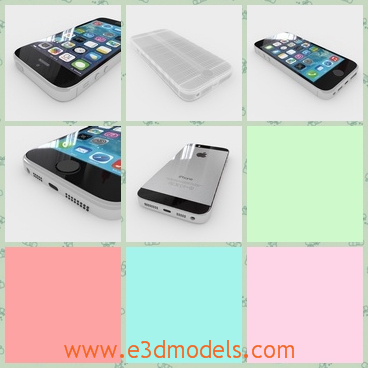 3d model the apple phone - This is a 3d model of the apple phone,which is the newest brand in the world.The model is popular in the world.