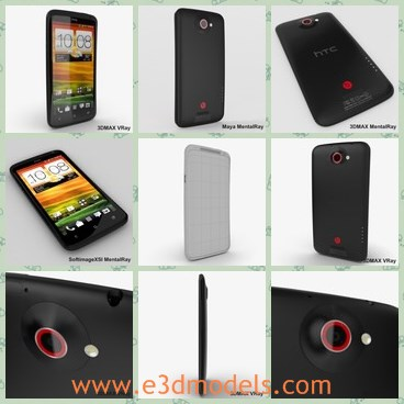 3d model the black HTC - THis is a 3d model of the black HTC,which is the famous and popular brand in China.THe phone is made in China,and popular among young people.