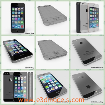 3d model the black phone of iPhone 5s - This is a 3d model of the black phone of iPhone  5s,which is famous anf popular around the world.