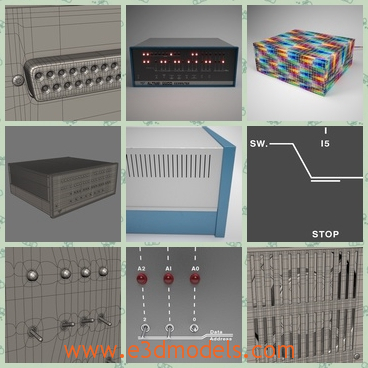 3d model the computer 8800 - This is a 3d model of the computer 8800,whihc is the  Altair 8800 from MITS is regarded by many as the computer that started the microcomputer revolution when it was released in 1975.