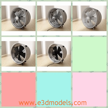 3d model the floor fan - This is a 3d model of the floor fan,which is small and cute but very useful.The fan is movable and so it is so convenient.
