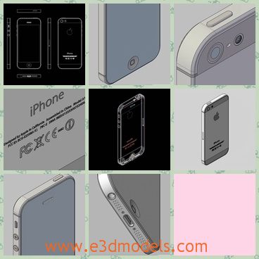 3d model the iPhone 5 in white - This is a 3d model of the iPhone 5 in white,which is the first and only completely accurate Apple iPhone 5. It was constructed from actual dimensions, not from pre-release leaked images.