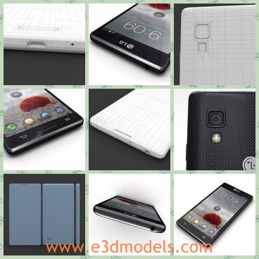 3d model the LG phone - This is a 3d model of the LG phone,which is 3ds max 9.max, also available in many formats.Formats:The main format is 3ds max 9.0 V-Ray Adv1.5RC3.