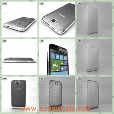 3d model the mobile phone of Samsung - This is a 3d model of the mobile phone os Samsung,which is bigger than others and the model is popular around the world.