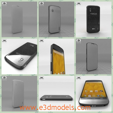 3d model the phone of Google - This is a 3d model of a phone of Google Nexus 4,which is a new-produced one in the market.The model is popular without sharp edges.