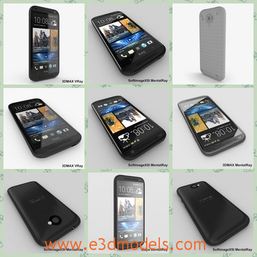 3d model the phone of HTC - THis is a 3d model of the phone of HTC,which is cool and famous in China.The model is nicely organized, has correct names for all objects.