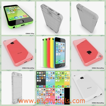 3d model the phone of iPhone 5 - This is a 3d model of the phone of iPhone5,which is nicely organized, has correct names for all objects and has good topology, TRI and QUAD polygons only.