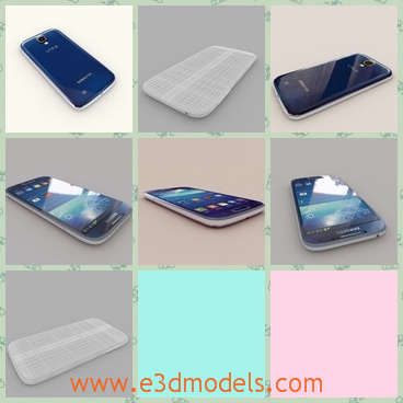 3d model the phone of Samsung - This is a 3d model of the phone of Samsung,which is the most advanced type up to now.