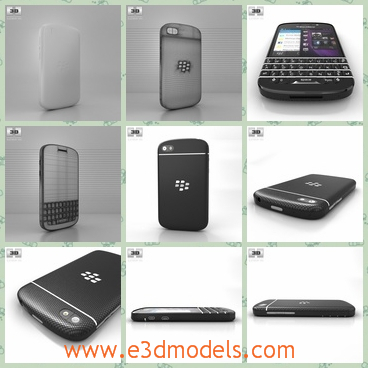 3d model the phone with the keyboard - This is a 3d model of the phone with the keyboard,which is black and cool.The phone is the product of the Blackberry.