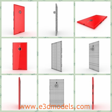 3d model the red and white phone of Nokia - This is a 3d moded of the red and white phone of Nokia,which is vertical and large to hold.The model is constructed with 16 polygonal objects, each object has an unique name.