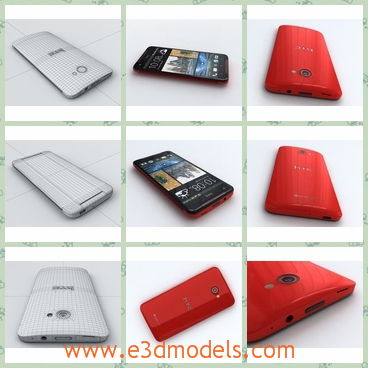 3d model the red phone of HTC - This is a 3d model of the red phone of HTC,which is popular in China and Chinese people are support the phone greatly.