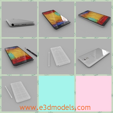 3d model the Samsung Galaxy Note 3 – Korea - This is a 3d model of the Samsung Galaxy Note 3,which is popular in China and the model is large and charming.