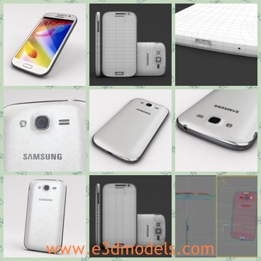 3d model the Samsung phone - This is a 3d model of the Samsung phone,which is modern and popular among young people.
