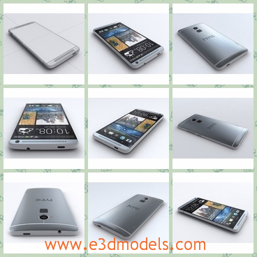 3d model the THC phone - This is a 3d model of the HTC phone,which is a new and popular one in China.The model has a touchscreen and the screen is convenient to use.