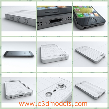 3d model the white iphone - THis is a 3d model of the white iPhone 5,which is the previous type of the iPhone 5s.The model is famous and popular around the world,but it is so expensive.