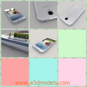 3d model the white phone of Galaxy - This is a 3d model of the white phone of Galaxy,whihc is bigger than other phones.The model is popular in China and in Korea.