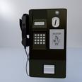 3d model public telephone