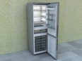 3d model the refrigerator in modern style