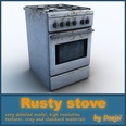 3d model the ruined stove
