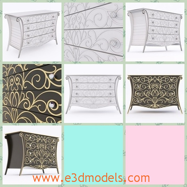 3d m odel the furniture of dressers - This is a 3d model of the furniture,which is modern and fine.The model has glorious textures on it.