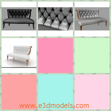 3d model a sofa in Arabian style - This is a 3d model of an Arabian sofa,which is also couch indeed.The sofa is long and the back of it is soft to lean.