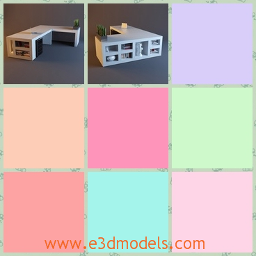 3d model a table — a cabinet - This is a 3d model of a table,which has many shelves,and so can be used as the cabinet.The table now is popular in modern society.