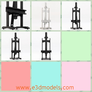 3d model an easel - This is a 3d model of an easel,which is a hardware and made in metal materials.