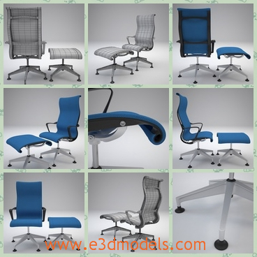 3d model an office chair that can revolve - Thsi is a 3d model of an office chair that can revolved. This Herman Miller Setu Lounge chair with varying materials ready to be placed in your scene.