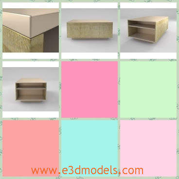 3d model domino - This is a 3d model of the Domino 70 with big drawers under the surface.It is a model of the conference table and can be put at the office.