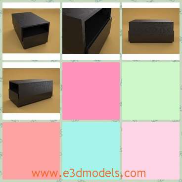 3d model drawer - This is a 3d model of a drawer,which entirely black.This model is a conference table with good quality.