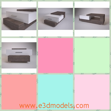 3d model table domino - This is a 3d model of a Table Domino 37,which is made of wood and can be placed at the office.The storage in it is very practical.