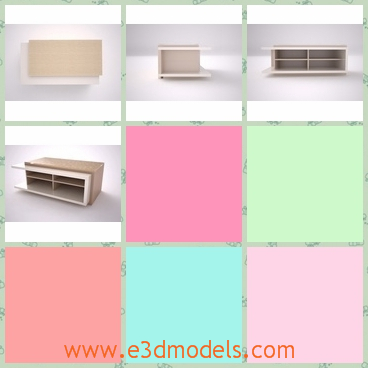 3d model table domino 85 - This is a 3d model about the table domino 85,which is very popular in the office.It has smooth appearance and the sufficient room for other stuffs.