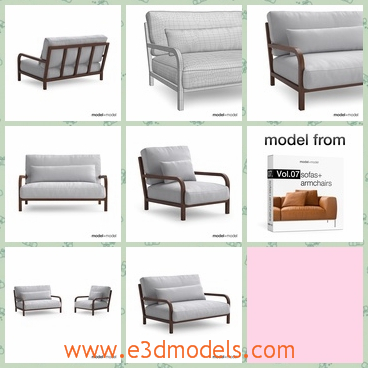 3d model the armchair - This is a 3d model of the armchair,which is the new sample of the brand.The chair is clean and comfortable.
