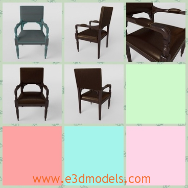 3d model the armchair in antique materials - This is a 3d model of the armchair,which is smooth to sit and the materials which made the chair is special and rare.