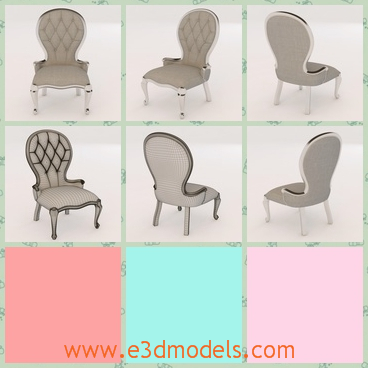 3d model the armchair in antique style - This is a 3d model of the armchair in antique style,which is realistci and comfortable.