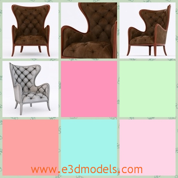 3d model the armchair with leather materials - This is a 3d model of the armchair with leather materials,which is the classic type of China.