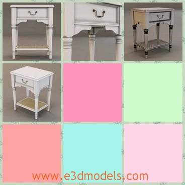 3d model the bedstand - This is a 3d model of the bedstand,which is small but cute.The model has a drawer and the surface is big enough to be used as the table.