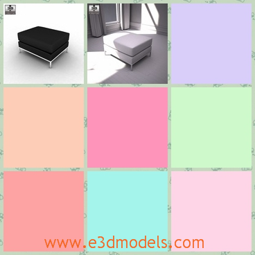 3d model the black footstool - This is a 3d model of the balck footstool,which is the new brand in the field of furniture.