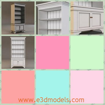 3d model the bookcase - This is a 3d model of the bookcase,which is big enough to store books and the bookcase is modern.