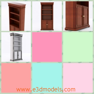3d model the bookcase-the cabinet - This is a 3d model of the bookcase,which can also used as the cabinet and it is long and heavy.