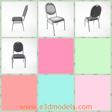 3d model the chair - This is a 3d model about the chair,which is armless and stackable.The chair is made with leather material.