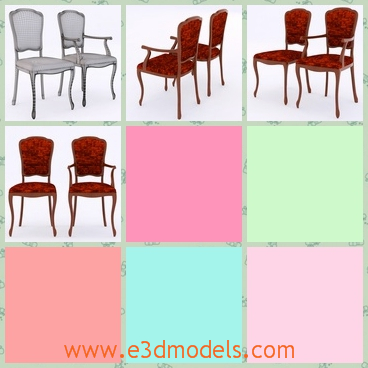 3d model the chair in the dining room - This is a 3d model of the chair in the dining room,which is covered with a fine surface and the model is luxury in the ordinary family.