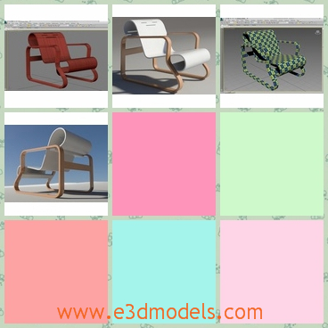 3d model the chair in white - This is a 3d model of the chair in white,which is the contemporary product and modern style.The chair is placed in the yard of a house.