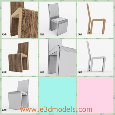 3d model the chair made in wood - This is a 3d model about the chair made in wood,which is the sidechair in the living room.The chair is special.