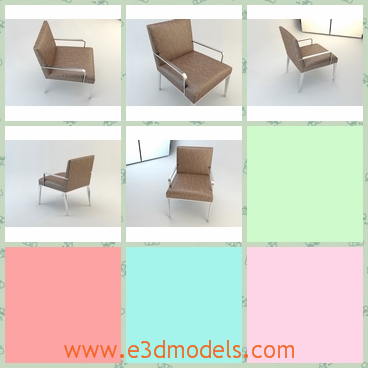 3d model the chair on the floor - This is a 3d model of the chair on the floor,which is placed in the office.The materials are comfortable to sit on.